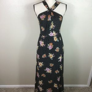 Anthropologie Free People Black Floral Dress